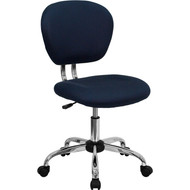 Flash Furniture Mid-Back Navy Blue Mesh Task Chair with Chrome Base - H-2376-F-NAVY-GG