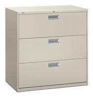 "HON 600 Series 42"" 3-Drawer Metal Lateral File Cabinet - 693L"