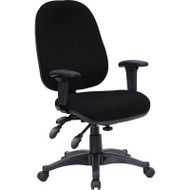 Flash Furniture Mid-Back Multi-Functional Black Fabric Swivel Computer Chair - BT-662-BK-GG