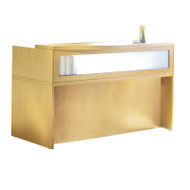 Mayline Aberdeen Reception Desk without Pedestal File Drawer Maple - ABEPackage3-LMA
