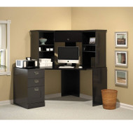Bush My Space Easy Stockport Corner Desk Black Package - MY62901-02-03