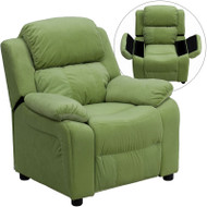 Flash Furniture Kid's Recliner with Storage Avocado Microfiber - BT-7985-KID-MIC-AVO-GG