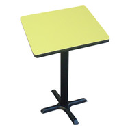 "Correll Bar and Cafe Breakroom Table - Bar Stool Height - Square 36"" - BXB36S"