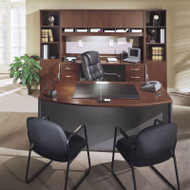 BBF Bush Series C Package Executive Bowfront Desk Hansen Cherry - HCPackageH
