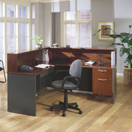 BBF Bush Series C Reception Desk L-Shaped Hansen Cherry - HCPackageJ