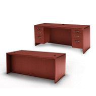 * MONTHLY SPECIAL! Mayline Aberdeen Executive Desk & Credenza Package Cherry - AT1-LCR