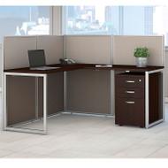 """BBF Bush Easy Office L-Shaped Desk 60"""" with Mobile File Cabinet - EOD360SMR-03K"""