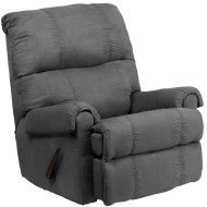 Flash Furniture Contemporary Flatsuede Graphite Microfiber Rocker Recliner - WM-8700-113-GG