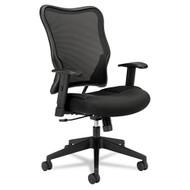 Basyx by HON Black Mesh High-Back Swivel/Tilt Work Chair - VL702MM10