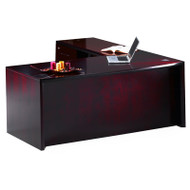 """* MONTHLY SPECIAL! Mayline Corsica Veneer Executive L-Shaped Straight Front Desk 72"""" Sierra Cherry - CT12-CRY"""