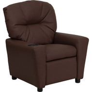 Flash Furniture Contemporary Kid's Recliner with Cup Holder Brown Leather - BT-7950-KID-BRN-LEA-GG