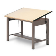 """Mayline Ranger Steel Four-Post Drawing Table 84"""" - 7739"""
