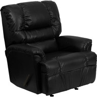 Flash Furniture Contemporary Marshall Black Leather Rocker Recliner - HM-500-MARSHALL-BLACK-GG