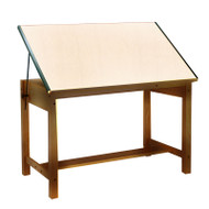 Mayline Wood Four-Post Drafting Table 72 x 37 1/2 - 7707