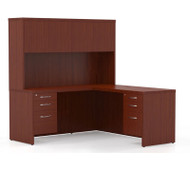 Mayline Aberdeen Executive L-Shaped Desk Work Station Cherry - AT33-LCR