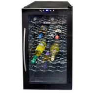 NewAir 28 Bottle Thermoelectric Wine Cooler, Black - AW-280E