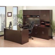 BBF Bush Series C Package Executive U-Shaped Desk Mocha Cherry - MOCPackageB