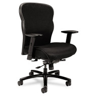 Basyx Big & Tall Black Mesh Executive Office Chair with Mesh Back and Fabric Seat - VL705VM10