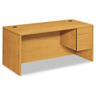 ASSEMBLED - HON 10500 Series Single Pedestal Desk (Pedestal on Right) 66 - 10583RCC