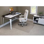 "Deflect-o Supermat Medium Pile Carpet Chairmat Lipped 45"" x 53"" - CM14231"