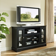 "Walker Edison Highboy 52"" TV Console, Matte Black - W52C32BL"