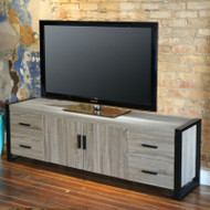 "Walker Edison Urban Blend 70"" TV Stand Driftwood/Black - W70UBC22AG"