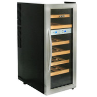 NewAir 21 Bottle Thermoelectric Wine Cooler Stainless Steel & Black - AW-211ED