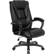Flash Furniture High Back Black Leather Executive Office Chair - GO-7194B-BK-GG