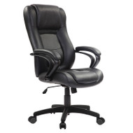 Eurotech by Raynor Pembroke Black Leather Executive Chair - LE521