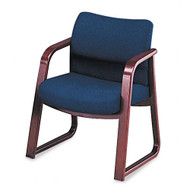 HON 2900 Series Fabric Guest Chair w/Arms Mahogany Finish - 2903NA