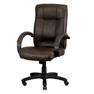 Eurotech by Raynor Odyssey High-Back Brown Leather Chair - LE9406BRN