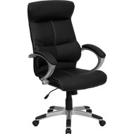 Flash Furniture High Back Black Leather Executive Office Chair - H-9637L-1C-HIGH-GG