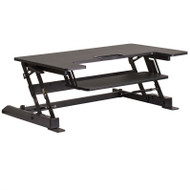 "Flash Furniture HERCULES Sit to Stand Desktop Riser 36.25""W Black - JE-JN-LD02-A1-B-GG"