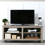 "Walker Edison Essential 58"" Wood TV Console,  Driftwood - W58CSPAG"