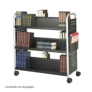 Safco Scoot Double-Sided 6 Shelf Book Cart - 5335BL