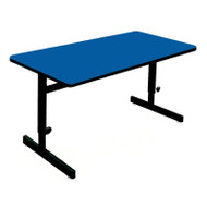 Correll High-Pressure Top Computer Desk or Training Table Adjustable Height 30 x 48 - CSA3048