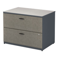 """BBF Bush Series A Lateral File Cabinet in Slate and White Spectrum 36""""W Assembled - WC84854PSU"""