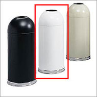 Safco White Dome Top Receptacle - 9639WH