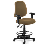 OFM Posture Task Stool with Arms - 118-2-AA-DK