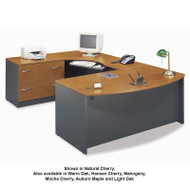 BBF Bush Series C Package Executive U-Shaped Bowfront Desk with Keyboard Tray - SERIESC11