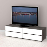 "Nexera Allure Entertainment Collection 60"" TV Console - 2 Flip Doors, 2 Drawers - 221133"