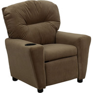 Flash Furniture Contemporary Kid's Recliner with Cup Holder Brown Microfiber - BT-7950-KID-MIC-BRWN-GG