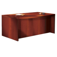 "* MONTHLY SPECIAL! Mayline Aberdeen Executive Desk Bowfront 66"" Cherry Finish - ABD6642-LCR"
