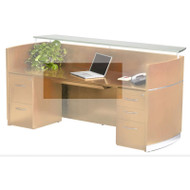 Mayline Napoli Veneer Center Desk Drawer ASSEMBLED Golden Cherry - NCD-GCH