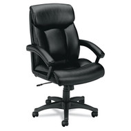 Basyx Black Leather Executive High-Back Chair - VL151SB11