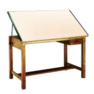 Mayline Wood Four-Post Drafting Table with Tool and Shallow Drawers 72 x 37 1/2 - 7707B