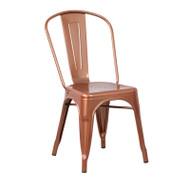 Flash Furniture Copper Metal Indoor-Outdoor Stackable Chair - ET-3534-POC-GG