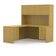* MONTHLY SPECIAL! Mayline Aberdeen Executive L-Shaped Desk Work Station Maple - AT32-LMA