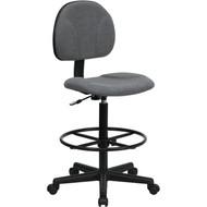 Flash Furniture Ergonomic Drafting Stool Gray Fabric - BT-659-GRY-GG