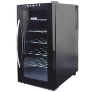 NewAir 18 Bottle Thermoelectric Wine Cooler Black - AW-180E